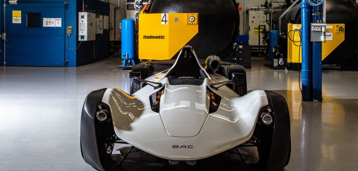 Showcasing the BAC Mono R at Advanced Engineering Show
